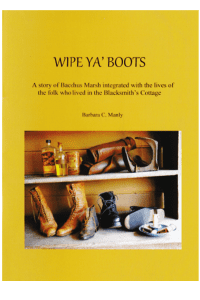 """Wipe ya' Boots"" by Barbara Manly."