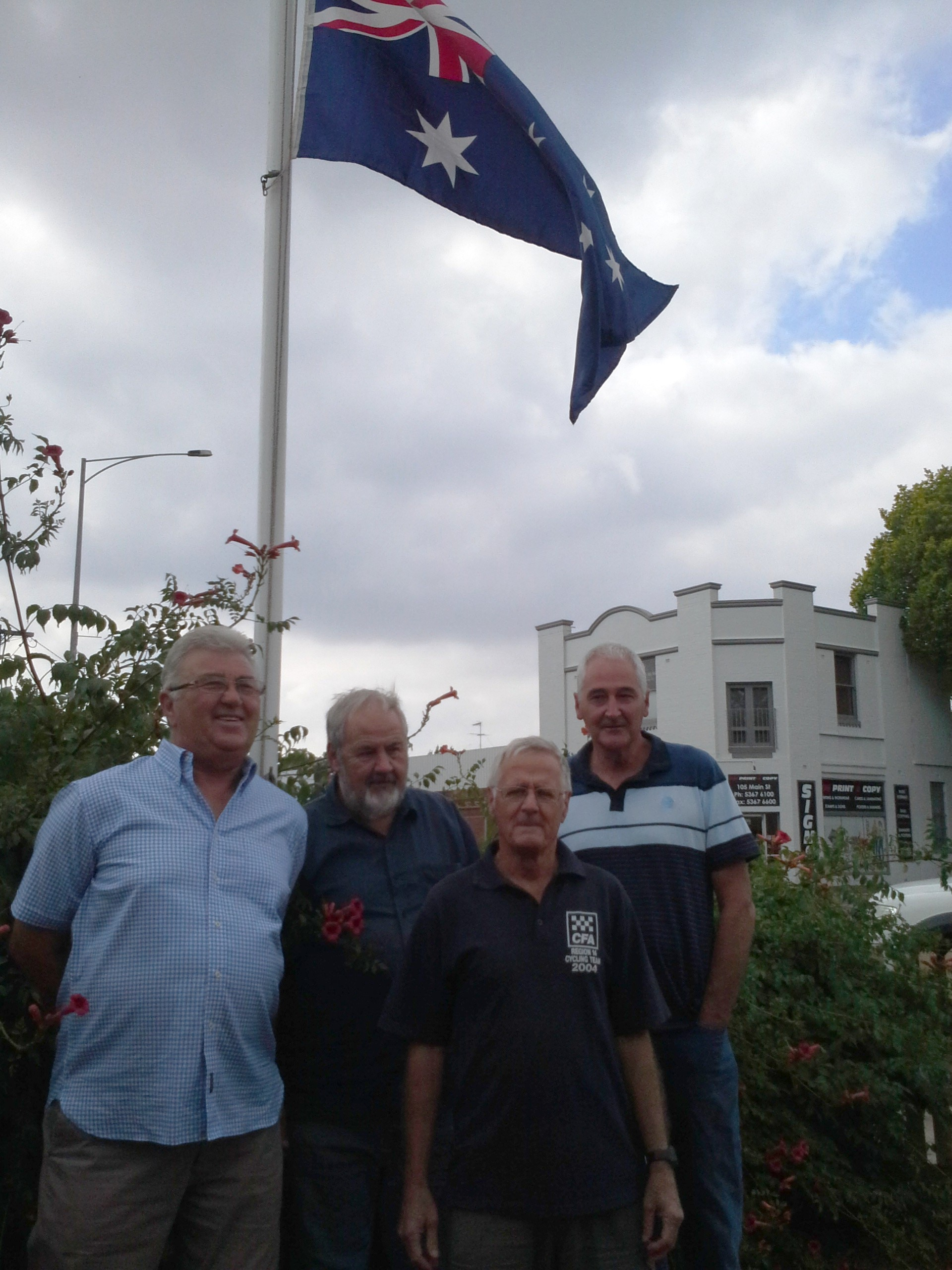 Alan with Tony, Geoff and Russ.