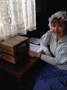 Moira with the Marshman radio.
