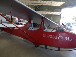 """""""Slingsby T31b"""" housed at BM airfield."""