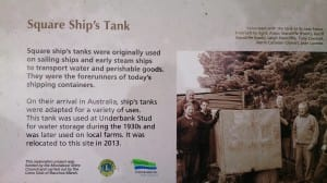 Water tank sign.